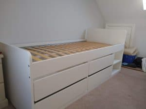 SLÄKT Bed frame storage slatted bed base assembly