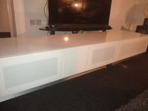 flat pack tv bench assembly